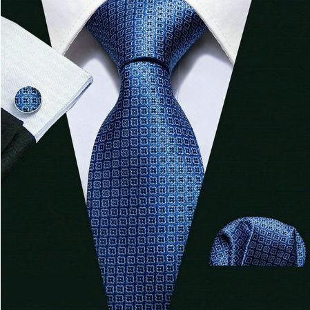 Cufflinks & Tie & Pocket Square Set - Achelóos