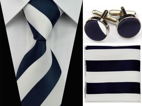 Cufflinks & Tie & Pocket Square Set - Néreus - 1