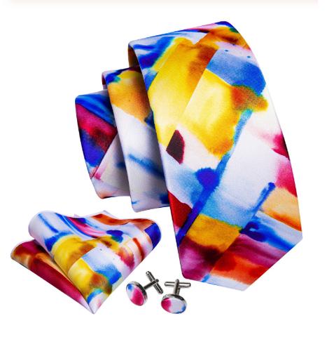 Cufflinks & Tie & Pocket Square Set - Muzy - 1