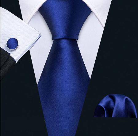 Cufflinks & Tie & Pocket Square Set - Inachos