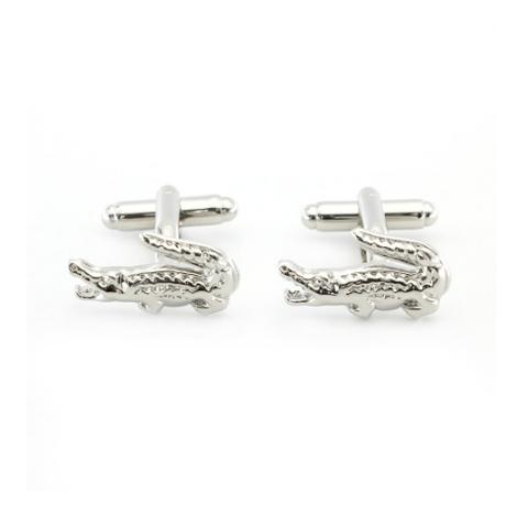 Crocodile Silver Cufflinks - 1