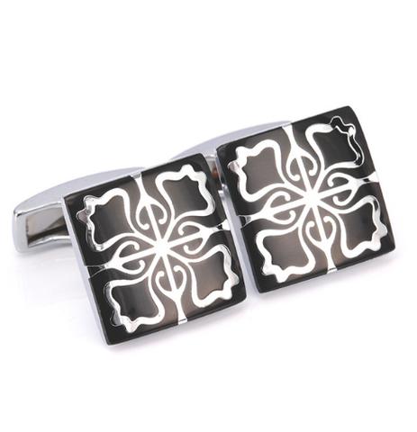 White Floral Ornament Cufflinks