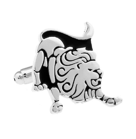 Cufflinks Zodiac Lion - 1