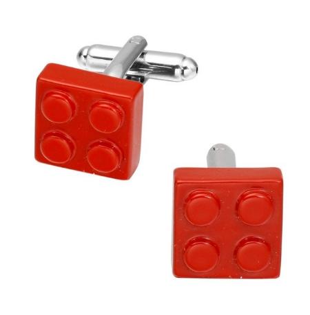 Cufflinks red Lego