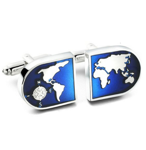 Cufflinks world map navigator