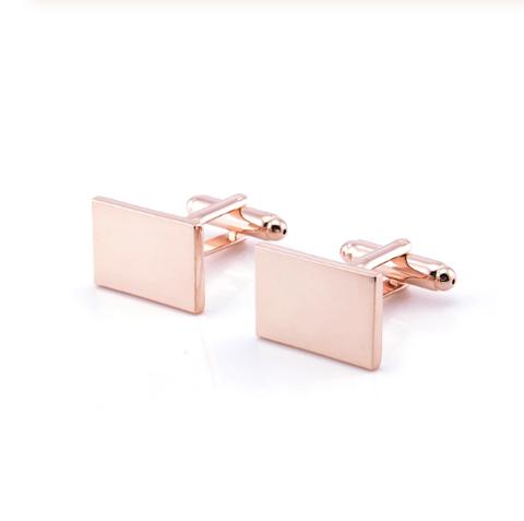 Cufflinks rectangle copper color - 1