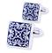 Blue Ornament Wedding Cufflinks - 1/5