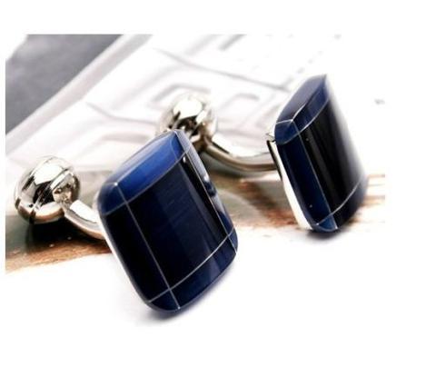 Luxury Big Blue Mosaic Cufflinks - 1