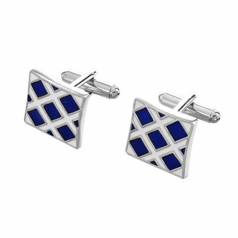 Cufflinks blue mosaic - 1