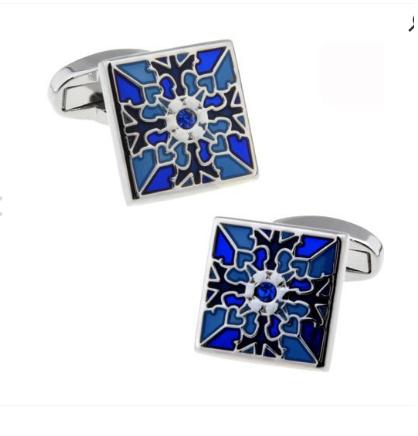 Blue Blossom Cufflinks - 1