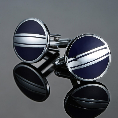 Blue shield cufflinks
