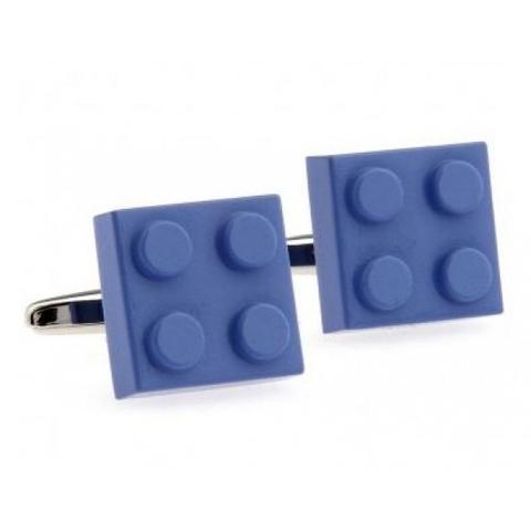 Cufflinks blue Lego