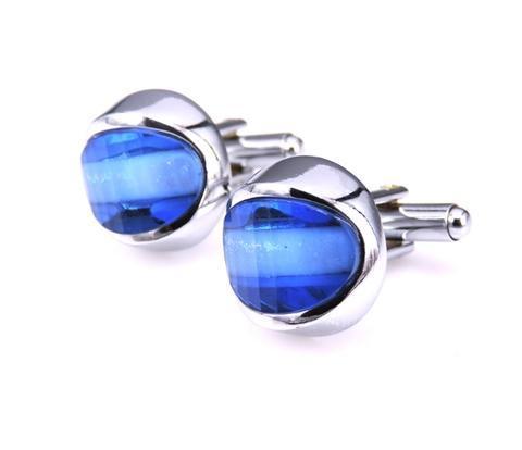 Light Blue Sun Cufflinks - 1