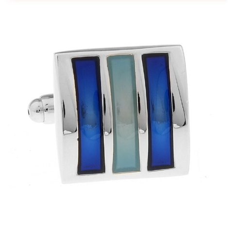 Blue triad cufflinks - 1
