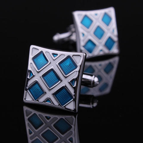 Luxury Blue Crystals Cufflinks - 1