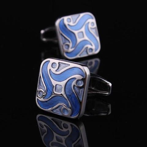 Blue Demon Flower Cufflinks - 1