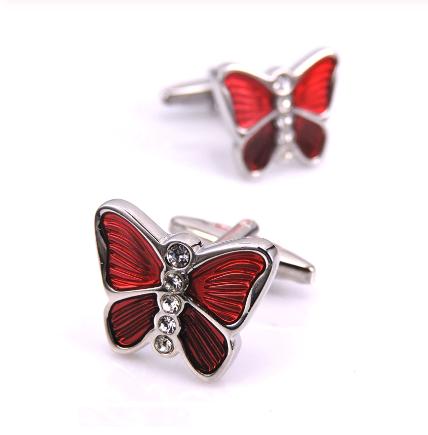Red butterfly cufflinks