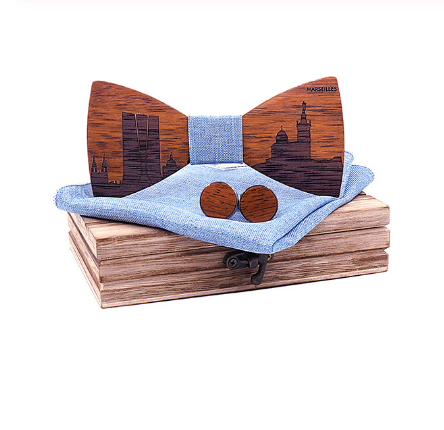 Riviera - Cufflinks Bow Tie Pocket Square Set