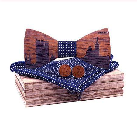 Philippe - Cufflinks Bow Tie Pocket Square Set