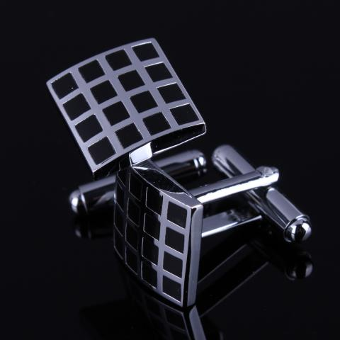 Black Grid Cufflinks