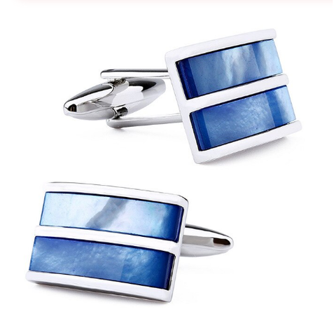 Cufflinks blue stripes - 1