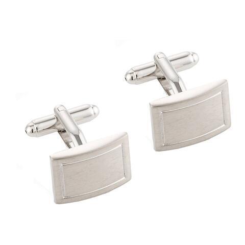 Fine Silver Metal Cufflinks - 1