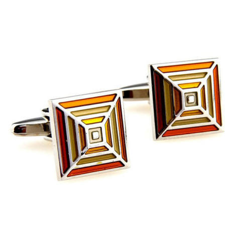 Orange Rainbow Cufflinks - 1