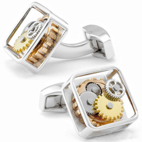 Vintage Watch Moving Cufflinks