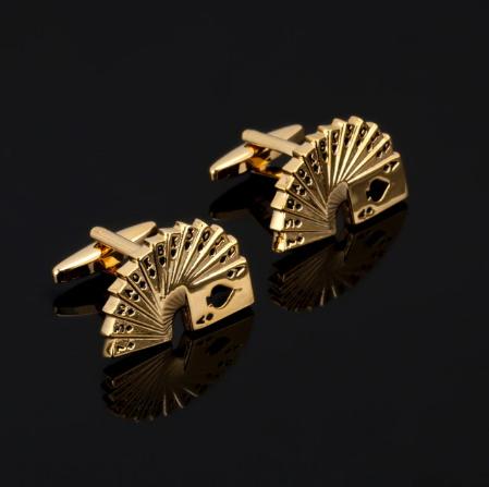 Golden screen cufflinks