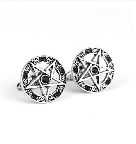 Pentagram Cufflinks black - 1