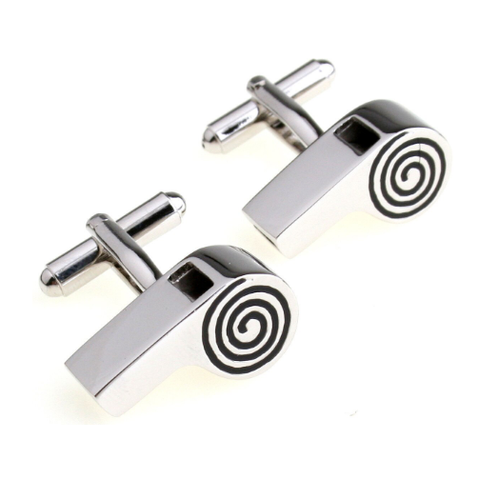 Referee Whistle Cufflinks