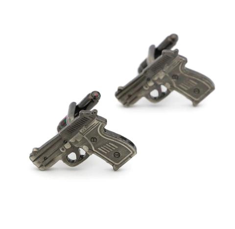 Gun shaped cufflinks