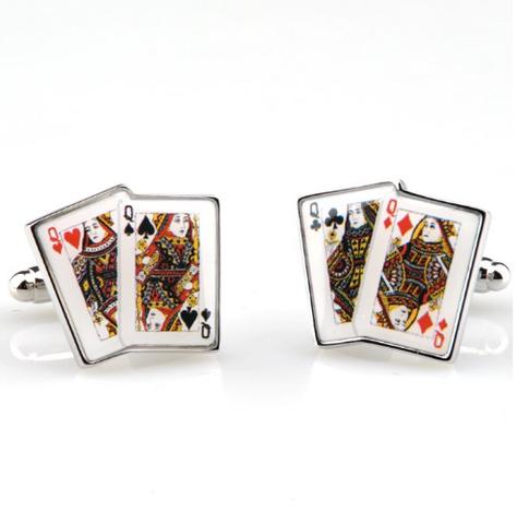 Ladies Poker Cufflinks - 1