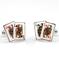 Ladies Poker Cufflinks - 1/2