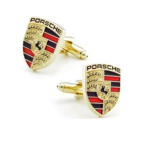 Porsche Gold Metal Cufflinks