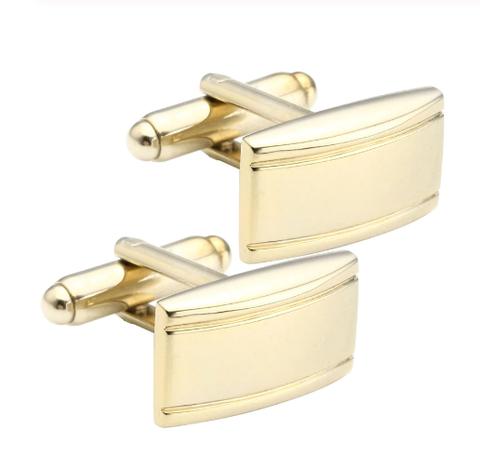 Matte cufflinks with gold stripes