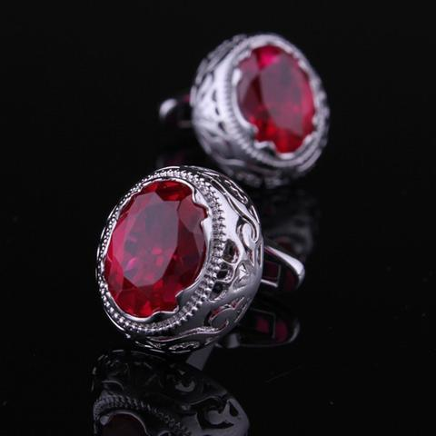 Vintage Ruby Eye Cufflinks - 1