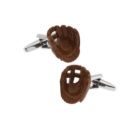 Cufflinks baseball gloves