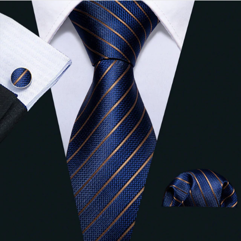 Cufflinks & Tie & Pocket Square Set - Anemoi