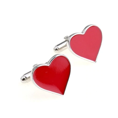 Big heart cufflinks