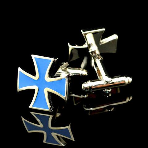 Light Blue War Cross Cufflinks
