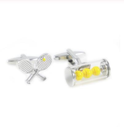 Tennis equipment cufflinks