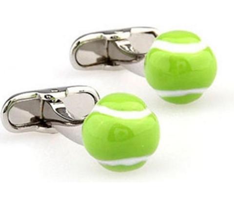 Enamel Tennis Ball Cufflinks