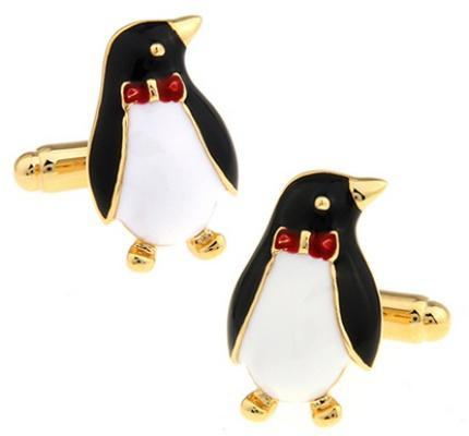 Cufflinks penguin with butterfly - 1