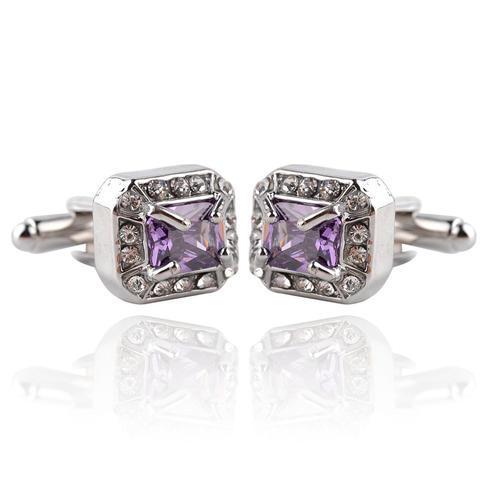 Vintage Royal Violet Crystal Cufflinks
