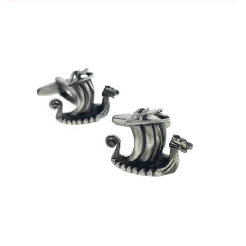 Viking ship cufflinks