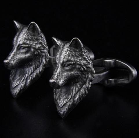 Cufflinks wolf head - 1