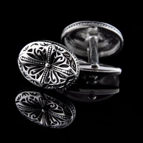 Medieval Cross Oval Cufflinks