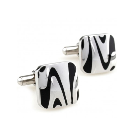 Cufflinks of zebra