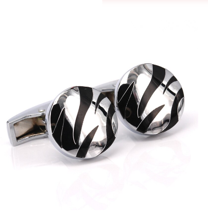 Cufflinks black abstract - 1